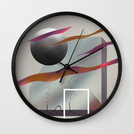 Dream shapes number 2 Wall Clock