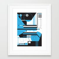 geo Framed Art Prints featuring Geo. by 2EQUALS