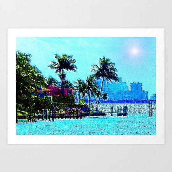 Miami Afternoon Art Print