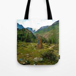 garden further alps kaunertal glacier tyrol austria europe Tote Bag