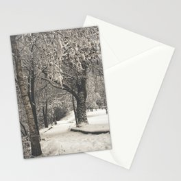 Walking in the Snow Stationery Cards