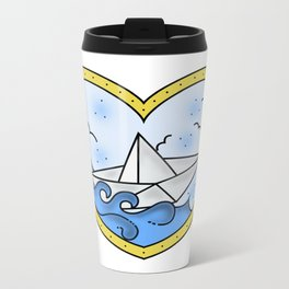 Paper boat ❤ Metal Travel Mug