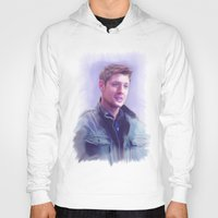 dean winchester Hoodies featuring Dean Winchester Pastel by Kaye Pyle
