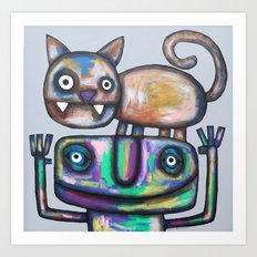 Juggler with Cat Art Print