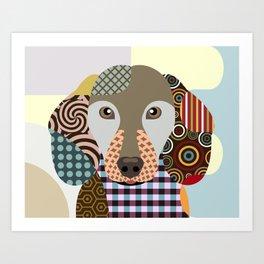 Dachshund Dog Pop Art Cubism Art Print