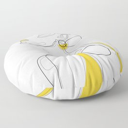 Yellow Lip Floor Pillow