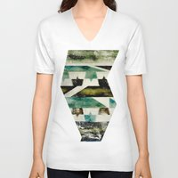 morocco V-neck T-shirts featuring Morocco meets Navajo by Joe Sander