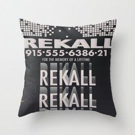 Rekall ( Total Recall ) Vintage magazine commercial. Throw Pillow