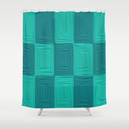 Blue Scales  Shower Curtain