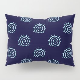 Dark Blue and Turquoise spiral pattern Pillow Sham