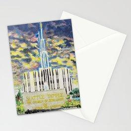 Seattle Washington LDS Temple Stationery Cards