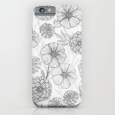 Garden in grey Slim Case iPhone 6s
