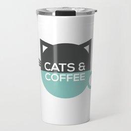 Cats and coffee Travel Mug