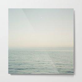 Pismo Beach Moonrise Metal Print