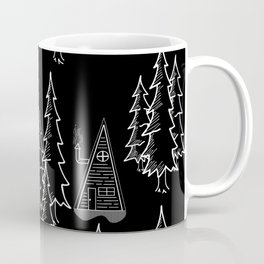Lost in the wood, a lonely cabin (revers) Coffee Mug