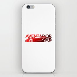 Lamborghini Aventador - classic red - iPhone Skin