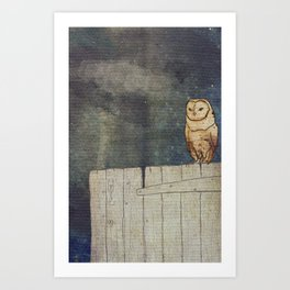 Whoo Goes There? Art Print