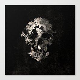 Spring Skull Monochrome Canvas Print