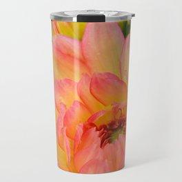 """Coral Tipped"" Dahlia by Teresa Thompson Travel Mug"