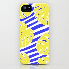 Monstera Leaf - Matisse Inspired Tropical Collage Pattern iPhone Case