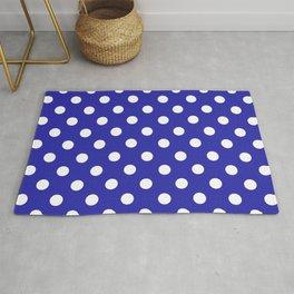 Polka Dots (White & Navy Pattern) Rug