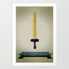 Golden Sword Art Print