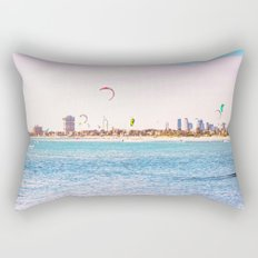 Windsurfing at St Kilda Rectangular Pillow