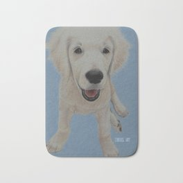 Golden Puppy Bath Mat