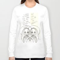 ahs Long Sleeve T-shirts featuring Violet AHS by Luna Perri