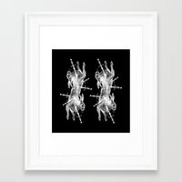 hunting Framed Art Prints featuring HUNTING by Bombarda