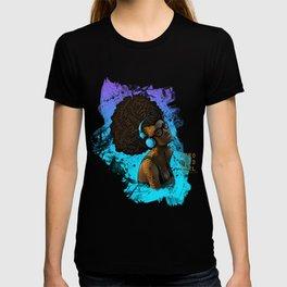 Afro Nerd Girl II (Blue) T-shirt