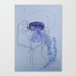 Blue Jellyfish 10 Canvas Print
