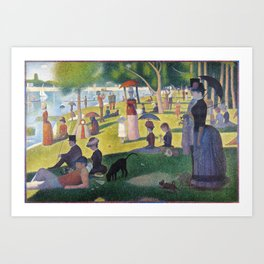 A Sunday on La Grande Jatte by Georges Seurat, 1884 Art Print