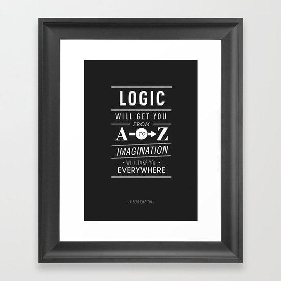 Type Poster - Albert Einstein Framed Art Print