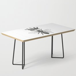 Queen Bee | Black and White Coffee Table