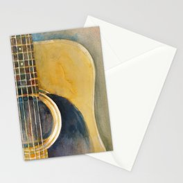 Martin Accoustic Guitar  new proportion Stationery Cards