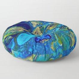 Ocean Jewel Abstract Floor Pillow