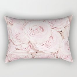 Roses have thorns- Floral Flower Pink Rose Flowers Rectangular Pillow