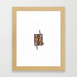 Ogier the Dane: Jack of Spades Framed Art Print