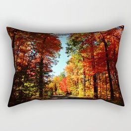 Fall Forest Road Rectangular Pillow