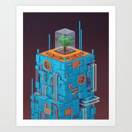 The Blue Tower Art Print