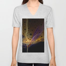 Ethereal Flame with Stars Unisex V-Neck