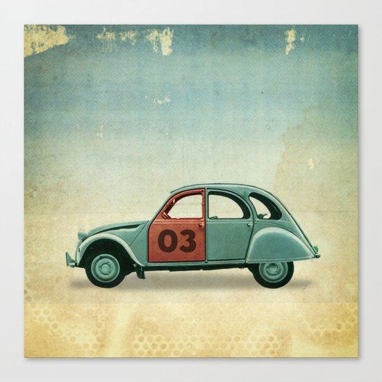 Number 03 _ Citron 2CV Canvas Print