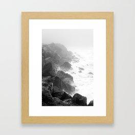The Rocks of Halfmoon Bay Framed Art Print