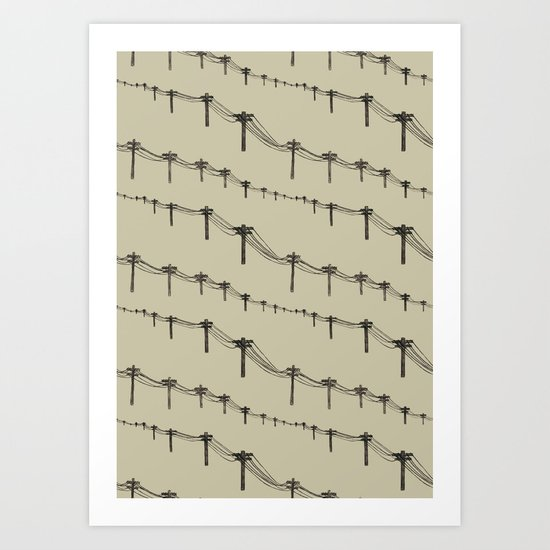 Metal Trees Art Print
