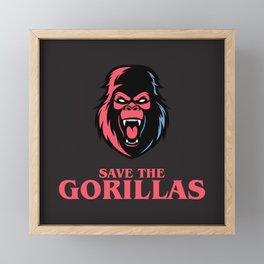 Save the Gorillas Framed Mini Art Print