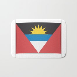 Flag of Antigua and Barbuda.  The slit in the paper with shadows.  Bath Mat