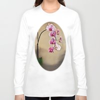 orchid Long Sleeve T-shirts featuring Orchid by Misspeden