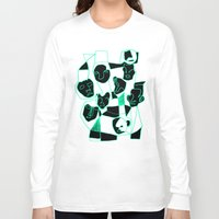 faces Long Sleeve T-shirts featuring Faces by esther walter