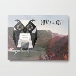 Mind the Owl! Metal Print